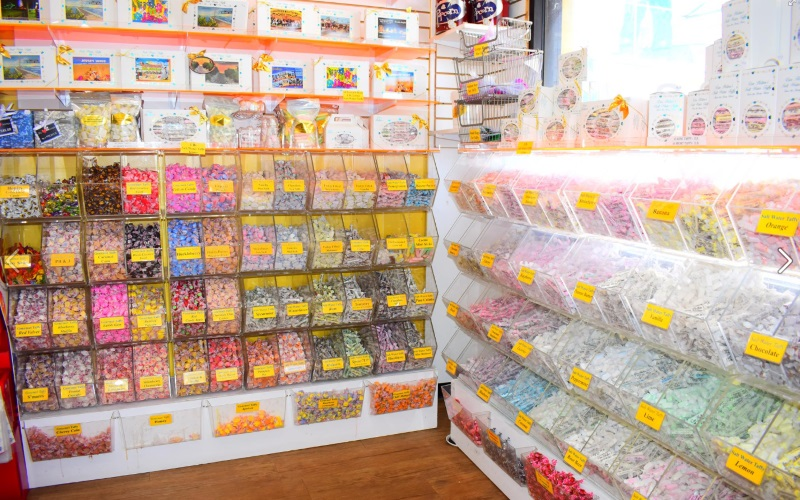 Image of colorful varieties of candy at Van Holtens Sweet Shop in Seaside Heights NJ