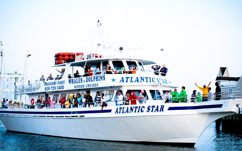The Boat Atlantic Star with People Enjoying the Cruise