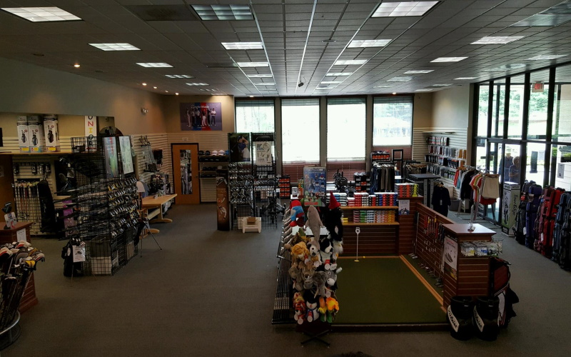 Image of the inside of the golf zones pro shop