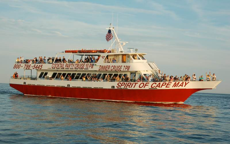 The Spirit of Cape May dinner cruises in Cape May County NJ