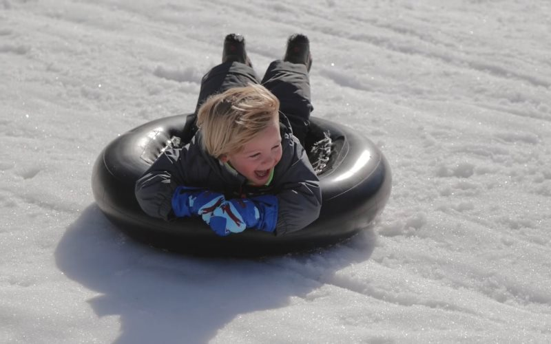 Thompson Park public snow tubing in Central New Jersey