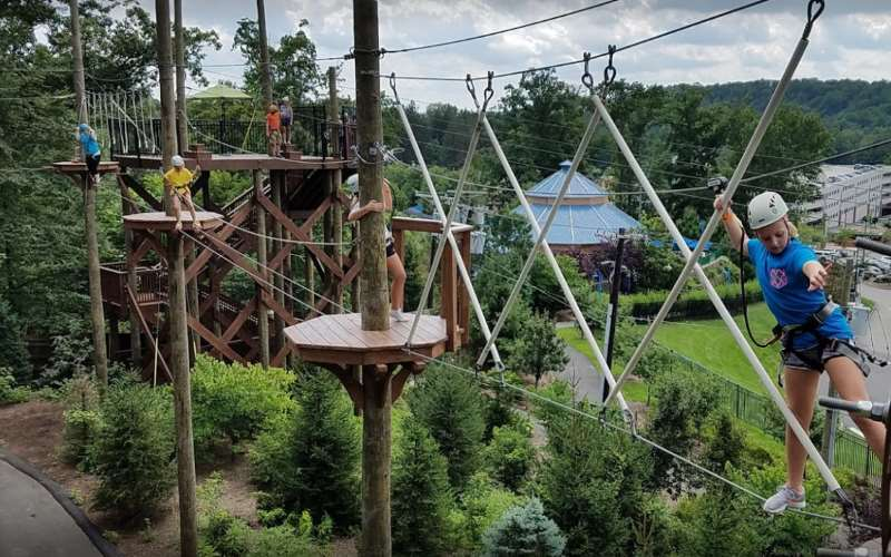 Treetop Adventure Course outdoor zip lining in Northern NJ