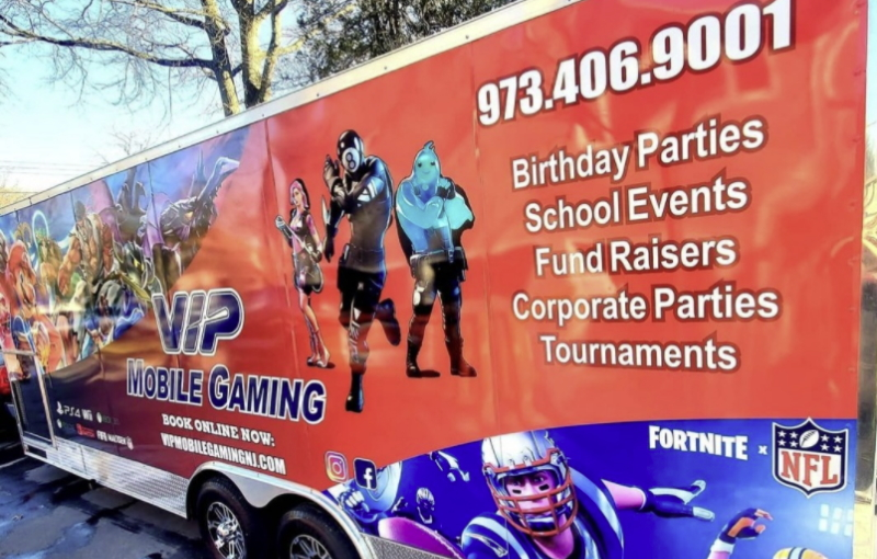 Image of the VIP Mobile Gaming NJ Truck