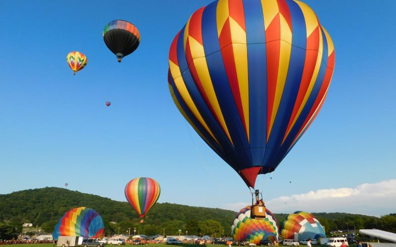 Warren County Farmers Fair and Hot Air Balloon Festival hot air ballooning rides in New Jersey