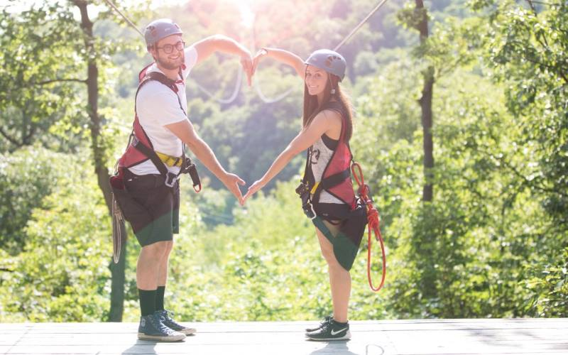 Zoom Ziplines zip lining companies in Sussex County NJ